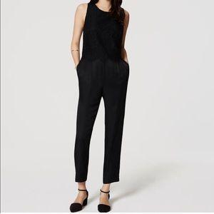 Black lace jumpsuit from Loft